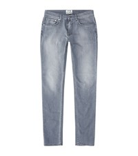 Acne Studios Untreated Washed Grey Jeans Male Light Grey