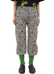 The Autonomous Collections Rose Print Twill Pants Grey