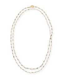 18K Gold And Pyrite Chain Necklace 36'L Linda Bergman