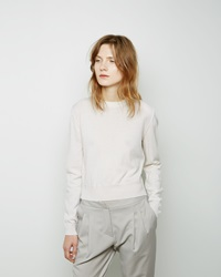 Maison Margiela Line 4 Cropped Combo Sweater Off White