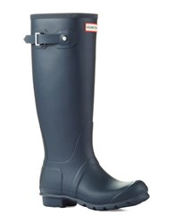 Hunter Original Tall Wellington Rain Boots Navy