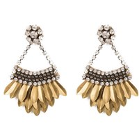 Deepa Gurnani Jaliyah Earrings Gold