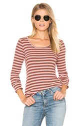 Project Social T Piccadilly Striped Tee Red