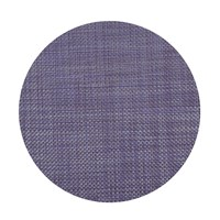 Chilewich Basketweave Round Placemat Purple