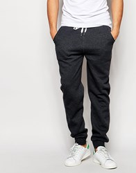 Solid Joggers With Drawstring Waist Grey