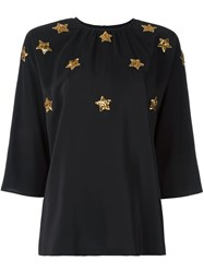Dolce And Gabbana Sequinned Star Blouse Black