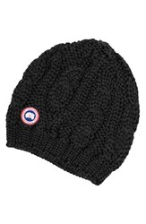 Canada Goose Women's Cable Knit Merino Wool Beanie