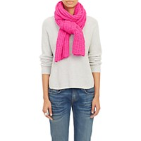 The Elder Statesman Women's Hand Knit Cashmere Scarf Pink