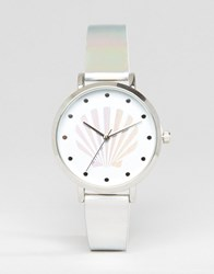 Asos Holographic Shell Watch Multi
