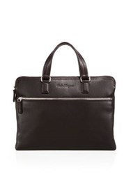 Salvatore Ferragamo Manhattan Flat Leather Briefcase
