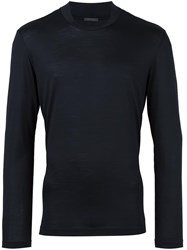 Pal Zileri Crew Neck Jumper Blue