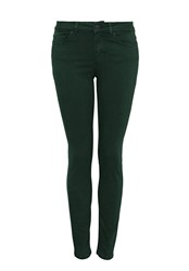 Hallhuber Skinny Jeans With Aged Dye Effect Green
