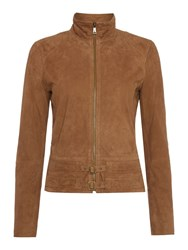 Lauren Ralph Lauren Kiania Leather Jacket Khaki