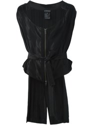 Ann Demeulemeester High Low Hem Zip Gilet Black