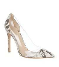 Gianvito Rossi Calabria Snakeskin Pointed Court Female Beige