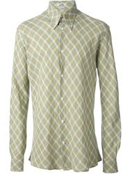 Herma S Vintage Checked Shirt Green