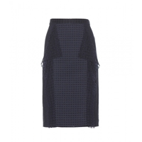 3.1 Phillip Lim Perforated Cotton Pencil Skirt