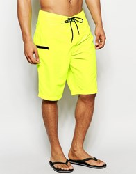 Asos Boardie Swim Shorts In Neon Yellow Yellow