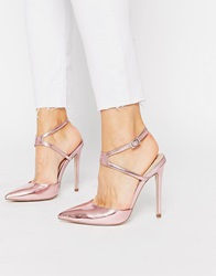 Picture Pointed High Heels Palepinkmetallic
