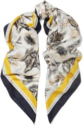 Stella Mccartney Printed Silk Scarf Ivory