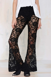 Nasty Gal Tragically Hip Lace Flare Pants