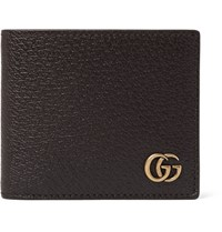 Gucci Marmont Full Grain Leather Wallet Brown