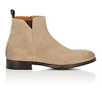 Barneys New York Men's Side Zip Ankle Boots Nude