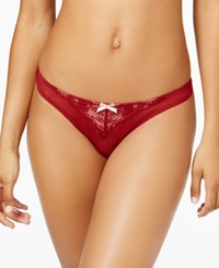 Heidi Klum Intimates Johana Sheer Lace Thong H16 924 Sun Dried Tomato Pearl Blush