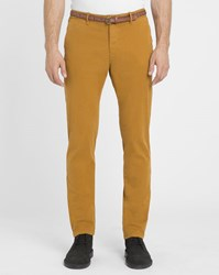 Scotch And Soda Mustard Stuart Slim Fit Chinos With Belt Yellow