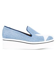 Stella Mccartney Binx Denim Loafer Trainers Blue