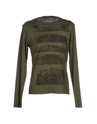 Gas Jeans Gas T Shirts Military Green