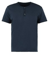 Sisley Basic Tshirt Navy Dark Blue