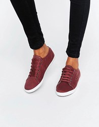 Fred Perry Kingston Twill Port Trainers Port Oxblood Red