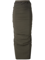 Rick Owens Fitted Midi Skirt