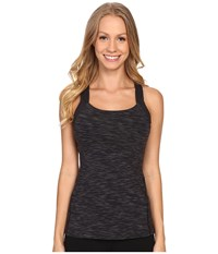 Fitness Fix Tank Top Lucy Black Spacedye Stripe Women's Sleeveless