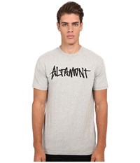 Altamont One Liner Grey Heather Men's Short Sleeve Pullover Gray