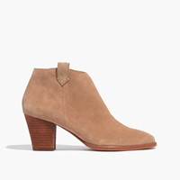 Madewell The Billie Boot In Suede Otter