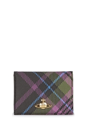 Vivienne Westwood Derby Plaid Leather Wallet