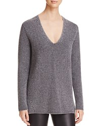 Bloomingdale's C By Deep V Cashmere Sweater Dark Slate
