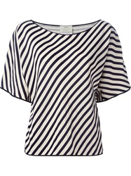 Forte Forte Striped T Shirt Blouse Blue