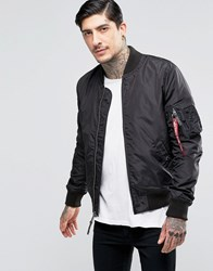Alpha Industries Ma 1 Bomber Jacket Slim Fit In Black Bk1 Black 1