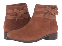 Trotters Luxury Tan Cow Suede Cognac Tumbled Women's Boots Brown