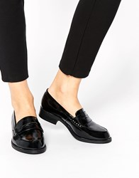New Look Wide Fit Leicester Chunky Loafer Flat Shoes Black