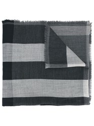 Burberry Checked Scarf Grey