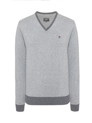 Peter Werth Sutton Cut V Neck Jumper Silver
