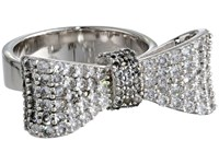 King Baby Studio Baby Bow Ring Pave Cz Silver