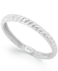 Macy's 14K White Gold Textured Cable Ring