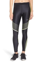 Nike Women's 'Power Speed' Tights Black Volt Silver