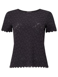 Phase Eight Teagan Lace Top Charcoal