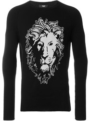 Versus Lion Intarsia Sweater Black